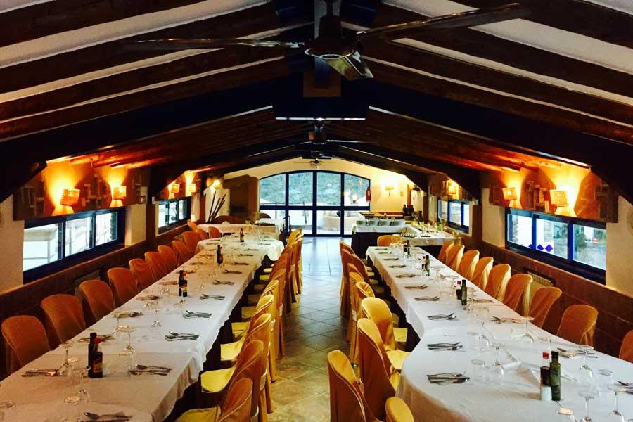 Salón segunda planta restaurante La Garganta